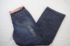 Liz Claiborne NEW Blue Denim Jeans Pants Bootcut 5 Pocket with Belt 8p 8 Petite