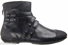 CESARE PACIOTTI US 7 SUPER STYLISH ANKLE BOOTS STUDDED LAMB LEATHER MENS SHOES