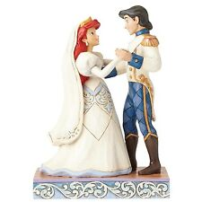 Disney Traditions Shore Wedding Bliss Ariel Prince Eric Figurine 15cm 4056749