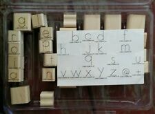 2007 Stampin' Up ABC Alphabet Lower Case Set 28 Wood Mounted Rubber Stamps Lot