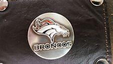 Denver Broncos 3 Piece Leather Luggage Set- Duffle, Messenger & Travel Kit