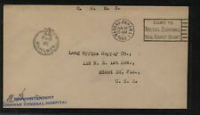 Bahamas  official envelope  paid marking  1948 to  US          MS0817