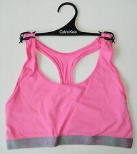 819749fabf167c Calvin Klein Women s Radiant Racerback Bralette Sport Bra Pink Size Large  New