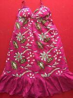 Derek Heart Womens Small  Pink Floral Spaghetti Strap Dress Knee Lng