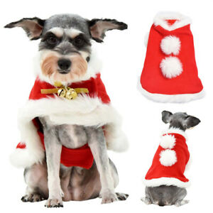 Cat Dog Christmas Outfits Coat Jacket Pet Clothes Hoodie Xmas Costumes Dress Up