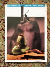 1989 K : KERAMIKOS INTERNATIONAL CERAMICS MAGAZINE w/ ALDO ROSSI on PARMA TOWERS