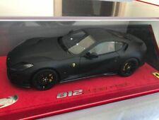 BBR 1/18 Ferrari 812 SuperFast, matt black, no MR, LOOKSMART, CMC
