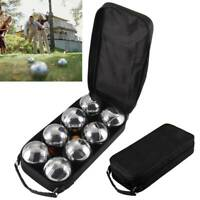 8 pc Steel French Boules Set Petanque Balls Garden Game Free Carry Case NEW Fun