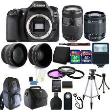 Canon EOS Rebel 80D 24.2MP DSLR Camera + 18-55mm + 70-300mm + 24GB Accessory Kit
