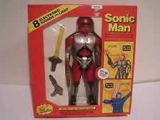 Sonic Man 1990 Vintage Toy Light Up Sword Lazer Gun Machine Gun NIB