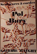 Pol BURY - Affiche lithographie poster Maeght Sculptures à cordes 1974