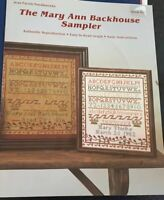 The Mary Ann Backhouse Sampler Cross Stitch Pattern Jean Farish Needleworks 1982