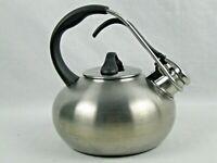 Chantal Whistling Tea Kettle pot 1.8qt Silver Stainless Steel Teapot SL37 LOOP