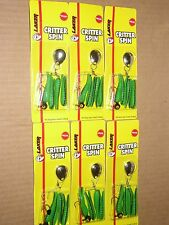 1/8 oz LAKER CRITTER (BEETLE) SPIN - CATALPA -  SIX (6)  NEW PACKAGES