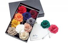 Unibuy Mens Lapel Pin Set Handmade Flower Boutonniere Suit 12 Pcs Style 4