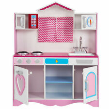 Pink Kitchen Toy Toddler Wooden Playset Kids Cooking Pretend Play Set Christmas