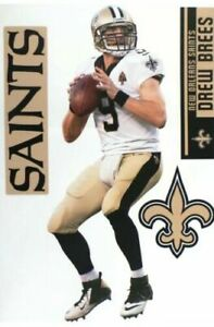 "Drew Brees New Orleans Saints Fathead Teammate Sticker Wall Decal 10x17 17"""