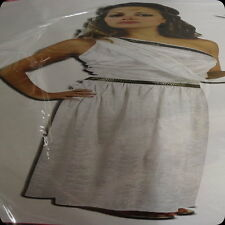 roman toga costume dress white ladies godess character greek empress  long gown