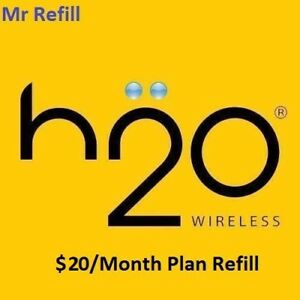 H2O $20/Month Plan Refill - fast & right