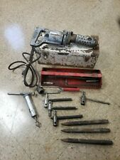 Vintage Milwaukee Electric Demolition Drill 5360 w/ case, handles & bits TESTED!