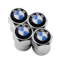 4 Ventilkappen BMW, Chrom, Metall, Staubkappen, Ventilkappen für Autoreifen