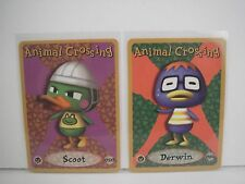 Animal Crossing Nintendo Game Boy E Reader Cards Derwin 084 Scoot 050 lot L60