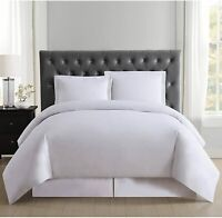 Truly Soft Everyday Duvet Cover and Shams Set, White- King- NEW