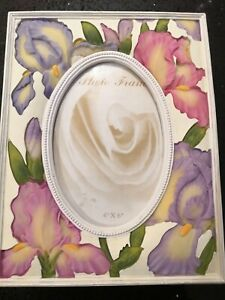 Ceramic Floral Photo Frame