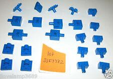 LEGO Blue technic Snap bricks 2476 10030 8461 2444 30000 2458 6232 Axle 7194 lot