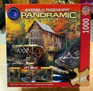 """Master Pieces """"Glade Creek"""" 1000 Piece Panoramic Jigsaw Puzzle Complete 3' Long!"""
