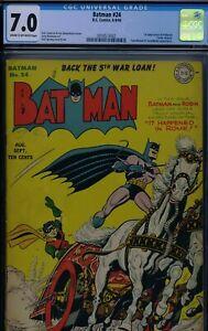 BATMAN #24 - CGC-7.0 - CR-OW - 1st Professor Carter Nichols