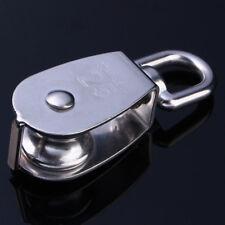 M25 304 Edelstahl Seilrolle Drahtseilblock Umlenkrolle Blockseilrolle Blockrolle