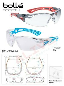 Bolle Safety Glasses Rush+ Small Narrow Spectacle For Kids Children Protection