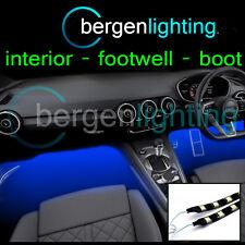 2 x 1000mm blau innen UNDER DASH / SEAT 12V SMD5050 DRL Mood Licht Streifen