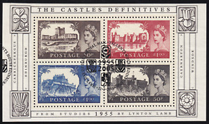 2005 Britain Castles S/S of 4 FDI USED