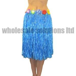 5 Pcs Hawaiian Fancy Dress Hula Grass Skirt Lei Flower Accessories Adult Costume
