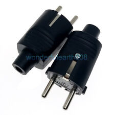 5 Power Entry Connector With Fuseholder Male Inlet 250V 16A 10A  3.15W 2.5W