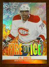 2013/14 P.K SUBBAN PANINI SELECT FIRE ON ICE STARS PRIZM SP / 25