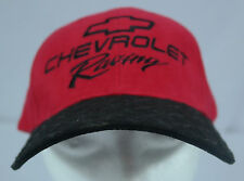 Chevy/Chevrolet Racing Bowtie LoRubberized Diamond-Plate Bill Strapback Hat