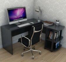 Corner Computer Desk Large Table Home Gaming Study Workstation with 2 Shelves
