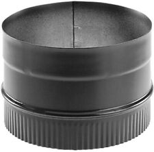 DuraVent Chimney Stove Pipe Adapter Vent Venting DuraBlack 6 Inch Single Wall