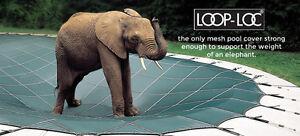 NEW GENUINE LOOP LOC GREEN MESH SAFETY COVER 16'X32' SLIDE CUTOUT 15YR WARRANTY