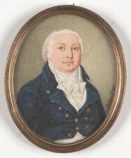 "Karl Bechon (1732-1812) ""Portrait of a Polish gentleman"", miniature, 1806"