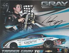 "2017 Tanner Gray signed Valvoline ""1st issued"" Chevy Camaro PS NHRA postcard"