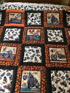 Handmade Harley Davidson Picture Quilt