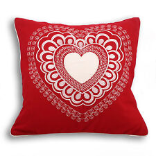Embroidered Hearts & Love Decorative Cushions