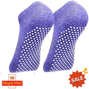 Nonslip Yoga Socks 100% Cotton Gym Dancing Barre Ballet Exercise Running Pilates