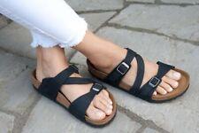 Birkenstock Sandals SALINA Camberra Old Black natural leather regular