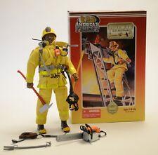21st Century Toys Americas Finest Firefighter Fireman Action Figure NIB 1/6