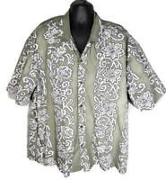 Steve and Barrys XXXL 3XL Shirt Classic Hawaiian Button Front Floral